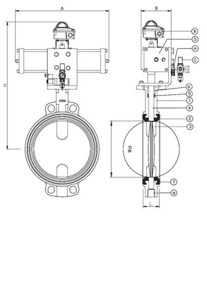 pneumatic butterfly valve - butterfly valve
